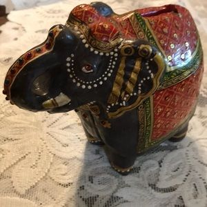 1940's painted cast iron elephant bank
